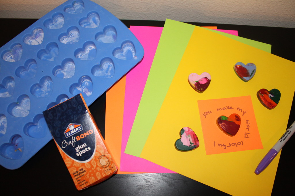 Supplies for Valentine Crayon Art