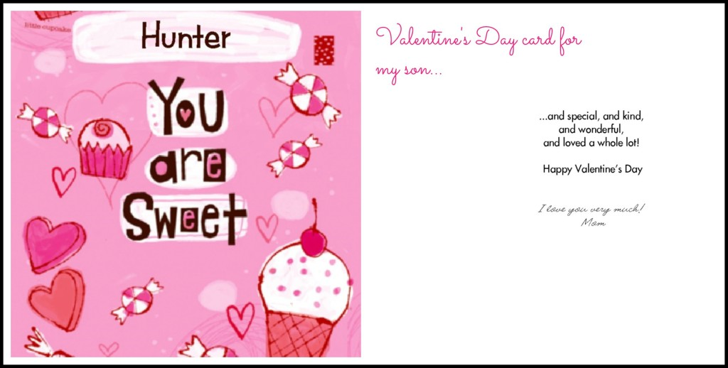 Valentine's Day card for child
