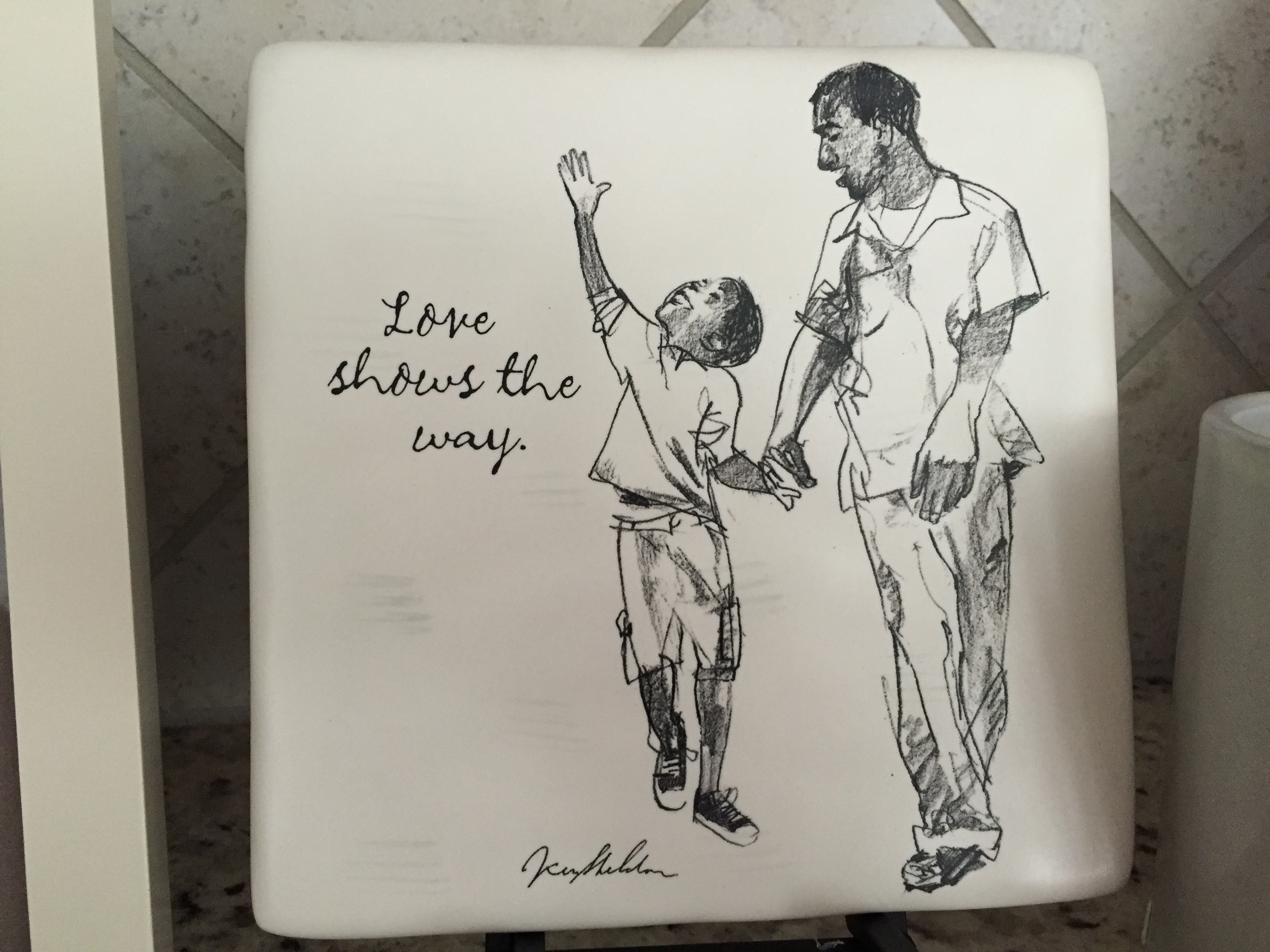 office gifts for dad. brilliant for decorative tile this reminds me so much of my husband and son when  they walk together i know will love having this in his office at work with office gifts for dad