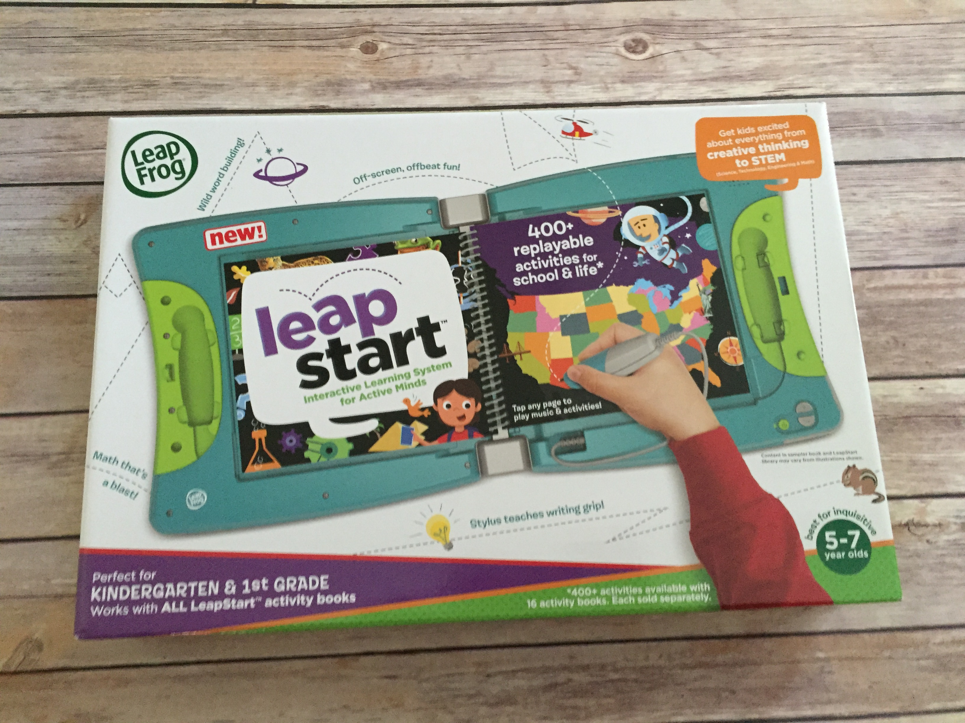 LeapFrog® LeapStart, an Interactive Activity Book for Kids #Review ...