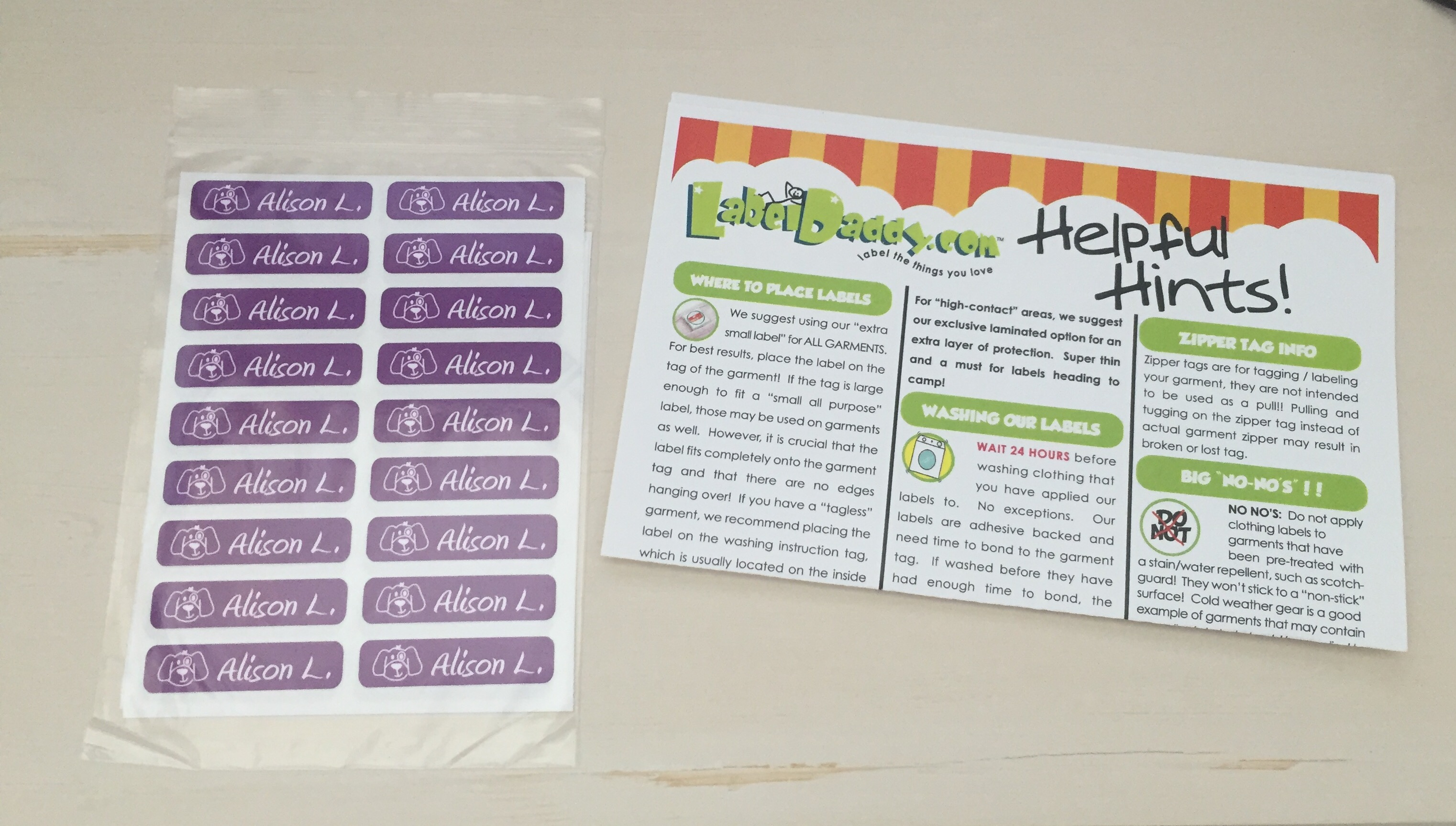 Label Daddy School Labels Review @LabelDaddy