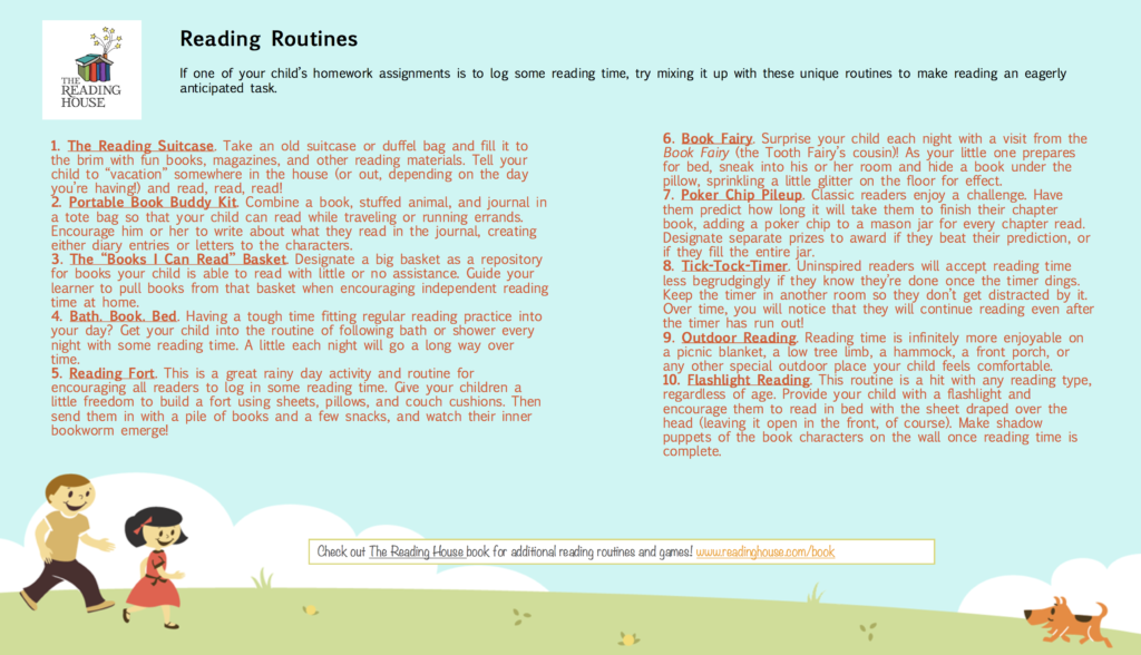 Reading Routines Handout
