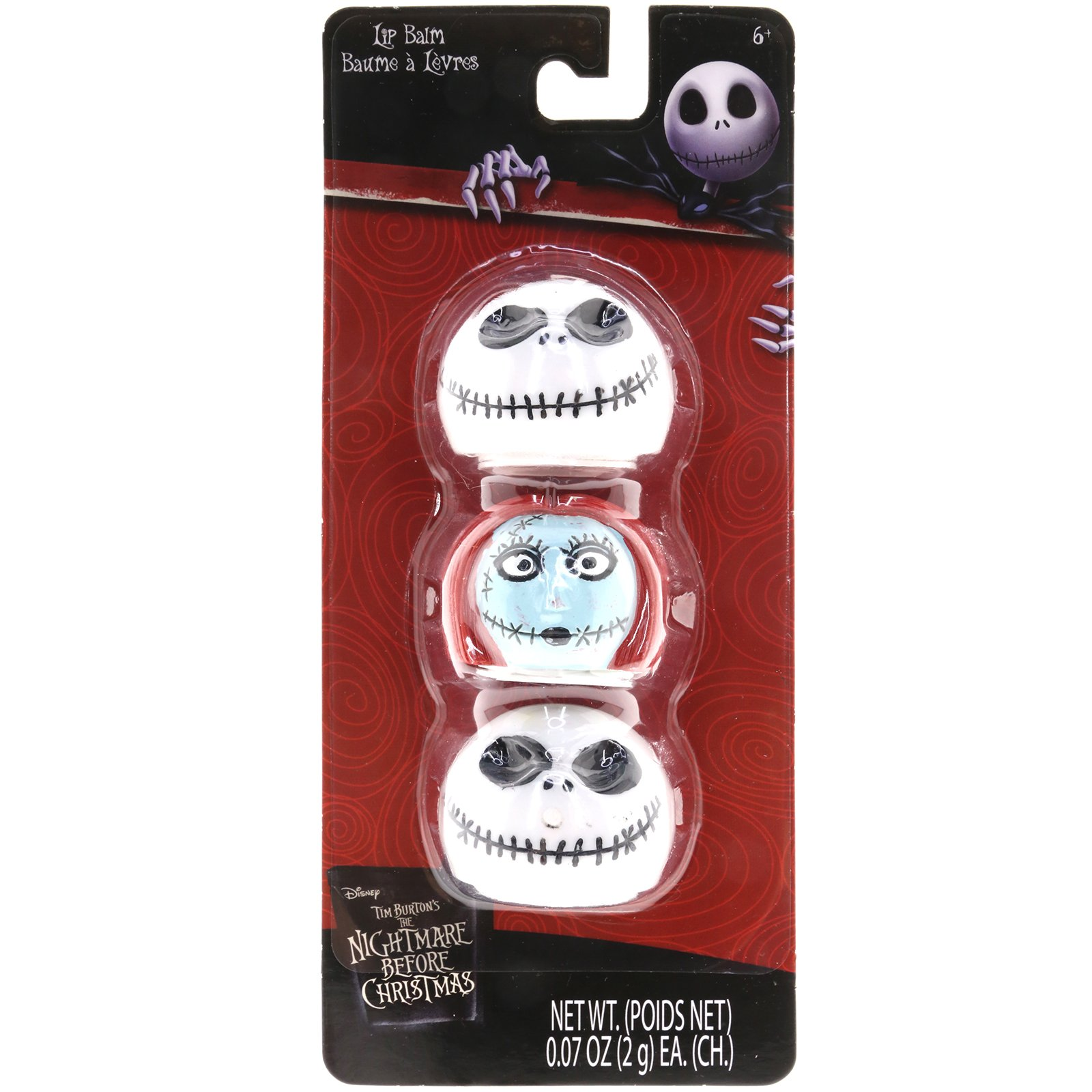 Nightmare Before Christmas Mood Changing Lip Balm /& Jack Skellington Bag